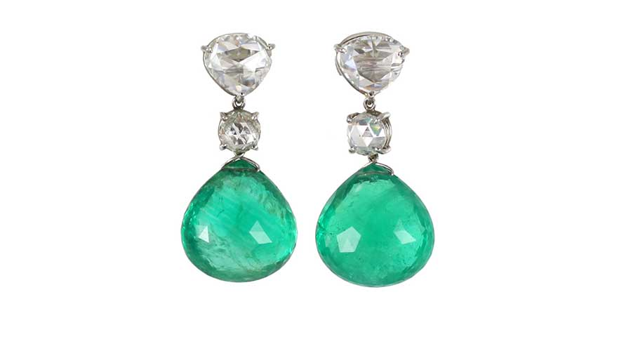 Piranesi Emerald and Diamond Earrings